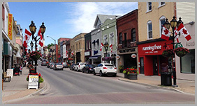 Historic Main Street in Newmarket